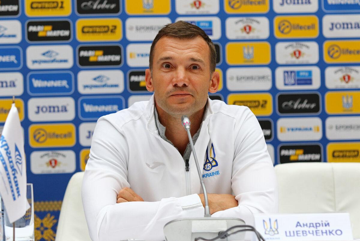 Andriy Shevchenko, allenatore Ucraina