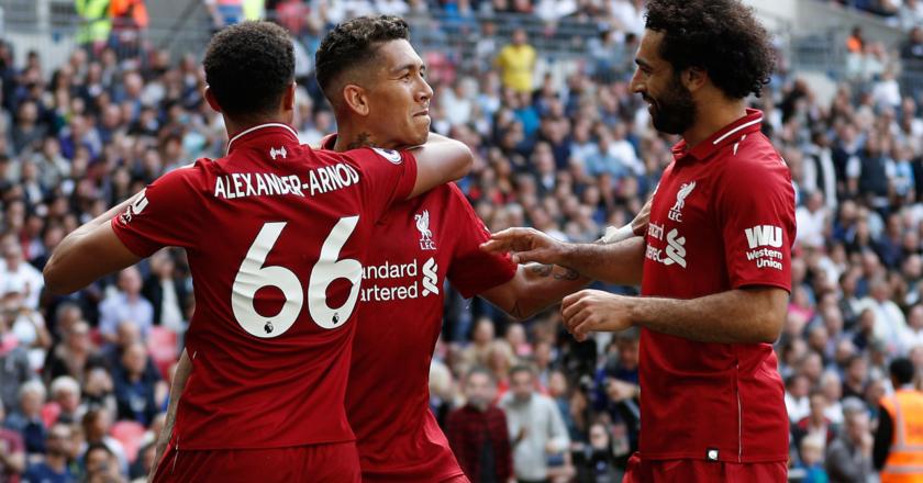 Alexander-Arnold, Firmino, Salah, Liverpool