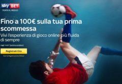 Bonus Benvenuto 100€ Sky Bet