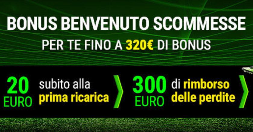Nuovo Bonus Better: 20€ subito + 300€ di rimborso sulle perdite