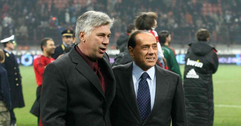 Carlo Ancelotti e Silvio Berlusconi, Milan