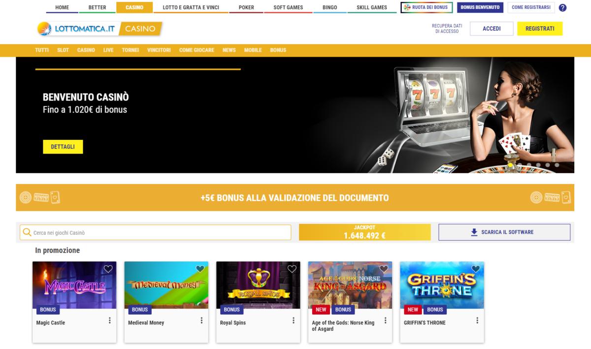 Casinò Online Lottomatica