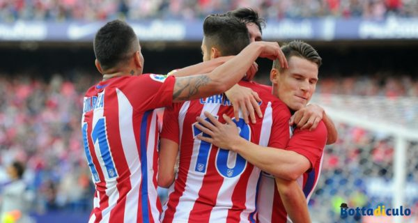 Esultanza Atletico Madrid
