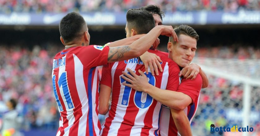 Esultanza Atletico Madrid