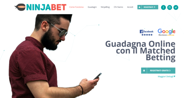 Da 3 anni il 1° sito di Matched Betting in Italia NinjaBet it