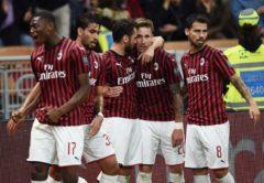Esultanza Milan, Serie A