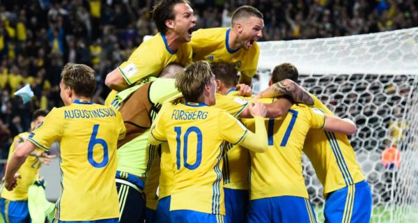Esultanza Svezia