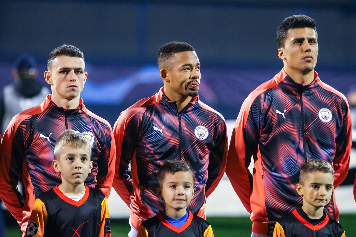 Foden, Gabriel Jesus e Rodri, Manchester City