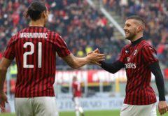 Zlatan Ibrahimović e Ante Rebić, Milan