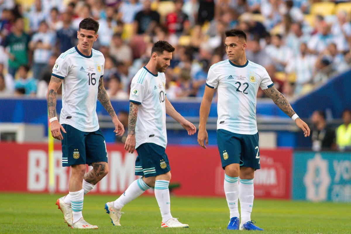 Lautaro, De Paul e Messi - Argentina