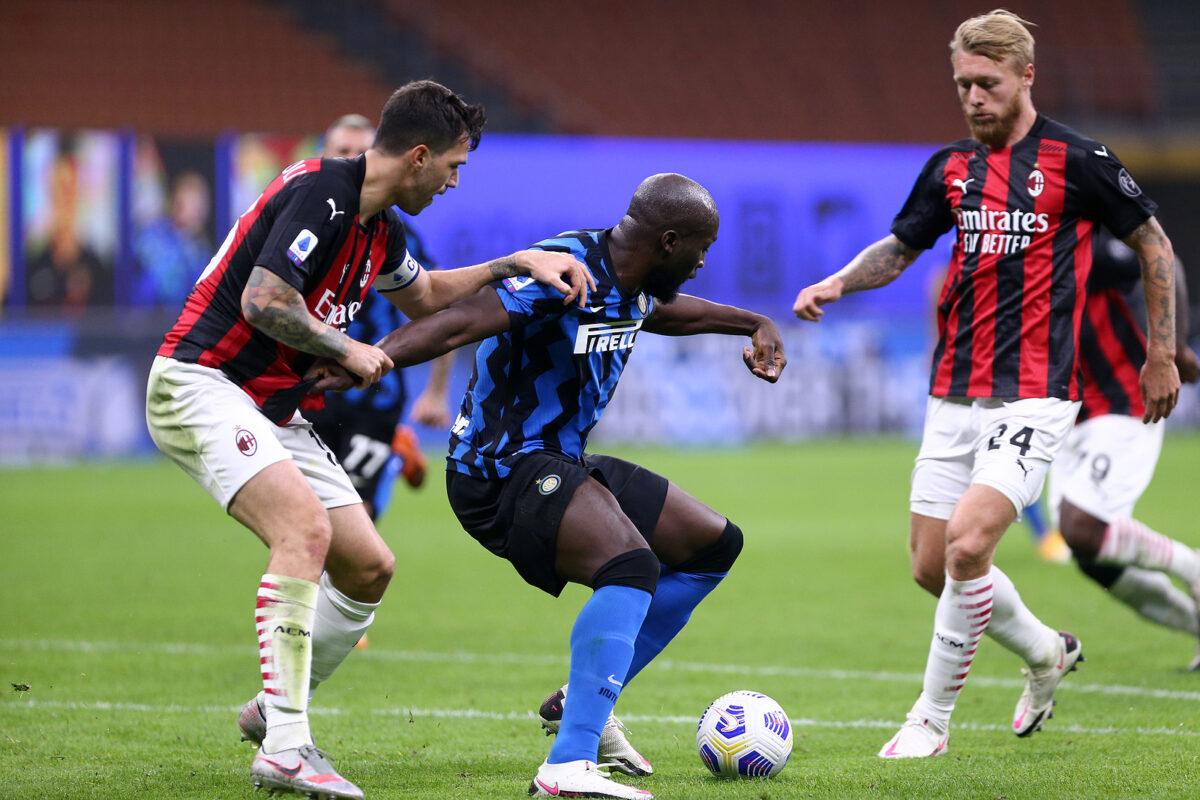 Lukaku, Romagnoli e Kjaer, Inter-Milan