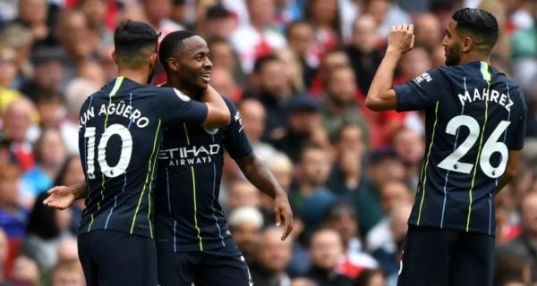 Sterling, Mahrez, Aguero, Manchester City