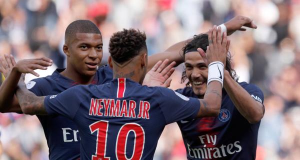 Neymar, Cavani, Mbappé, PSG