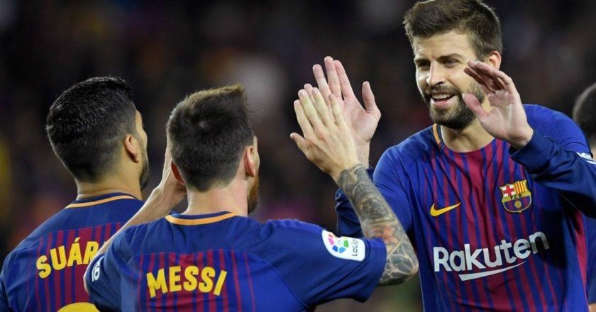 Barcellona: Suarez, Messi, Pique