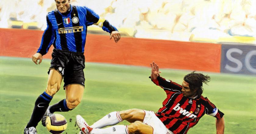 Maldini e Zanetti, Derby Milan-Inter