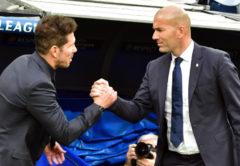 Zidane e Simeone, Real Madrid-Atletico Madrid