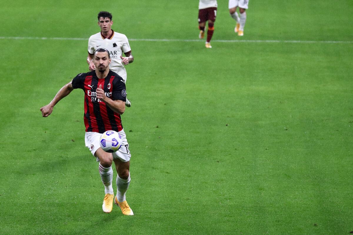 Zlatan Ibrahimovic durante Milan-Roma