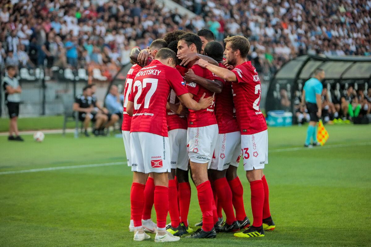 esultanza Spartak Mosca
