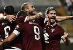 esultanza Torino - Europa League