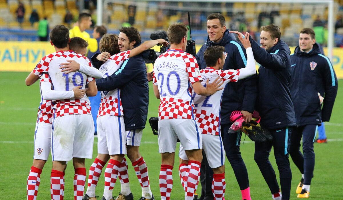 esultanza giocatori Croazia