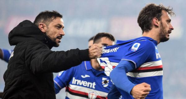 esultanza gol Gabbiadini, Sampdoria