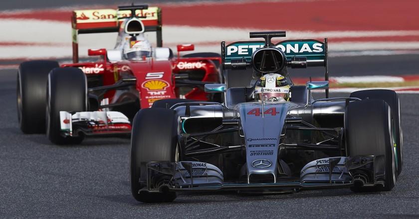Formula 1: Lewis Hamilton (Mercedes) e Sebastian Vettel (Ferrari)