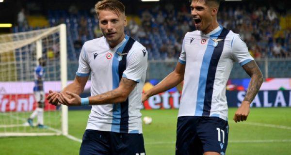 esultanza Lazio Immobile Correa
